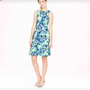 🆕 J. Crew 💃 Mint/Bright Green Floral Dress - 4